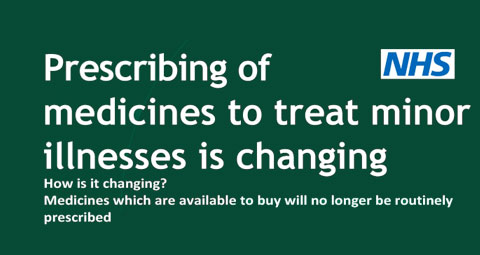 Prescribing of medicines to treat minor illnesses is changing